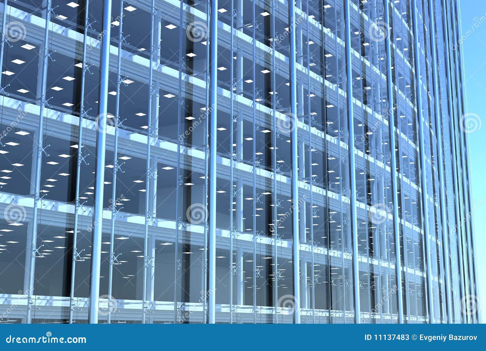 Esconda la fachada de cristal del edificio de oficinas - Fachada de cristal ...