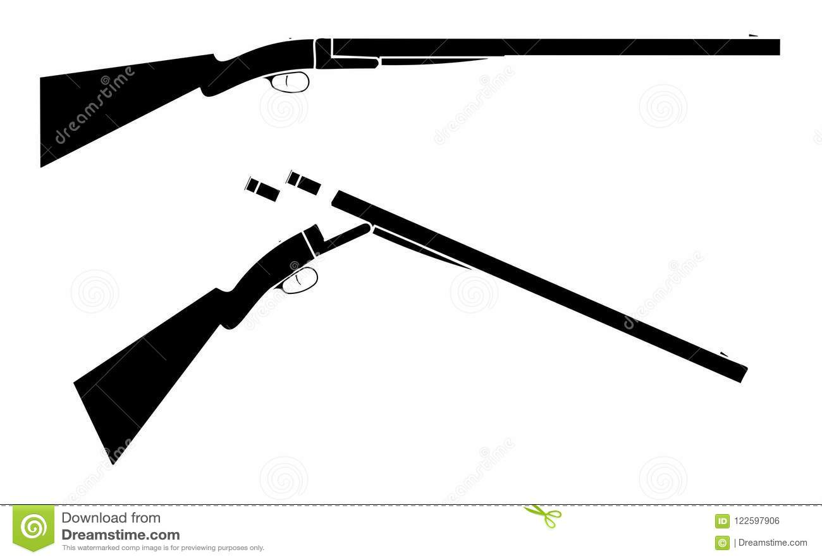 Escopeta de 12 indicadores simple Terraplén negro