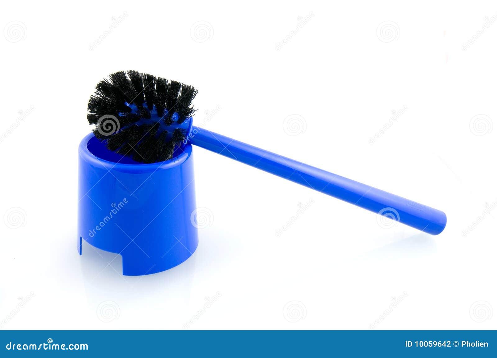 Escova azul do toalete