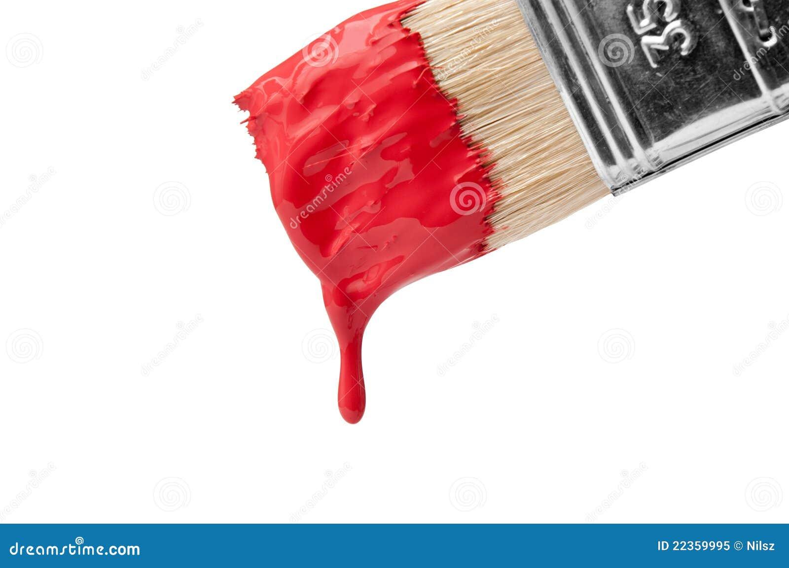 Escova com pintura do gotejamento