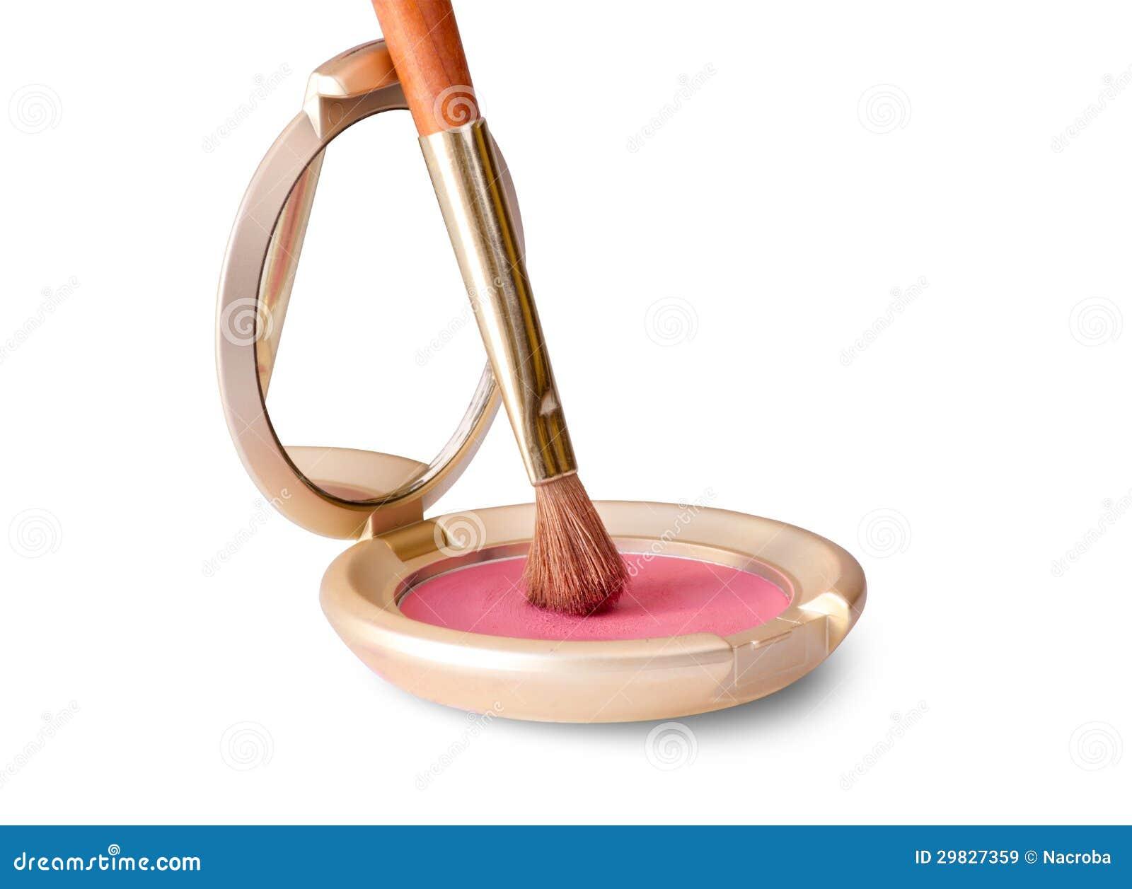 Escova e cosmético da composição