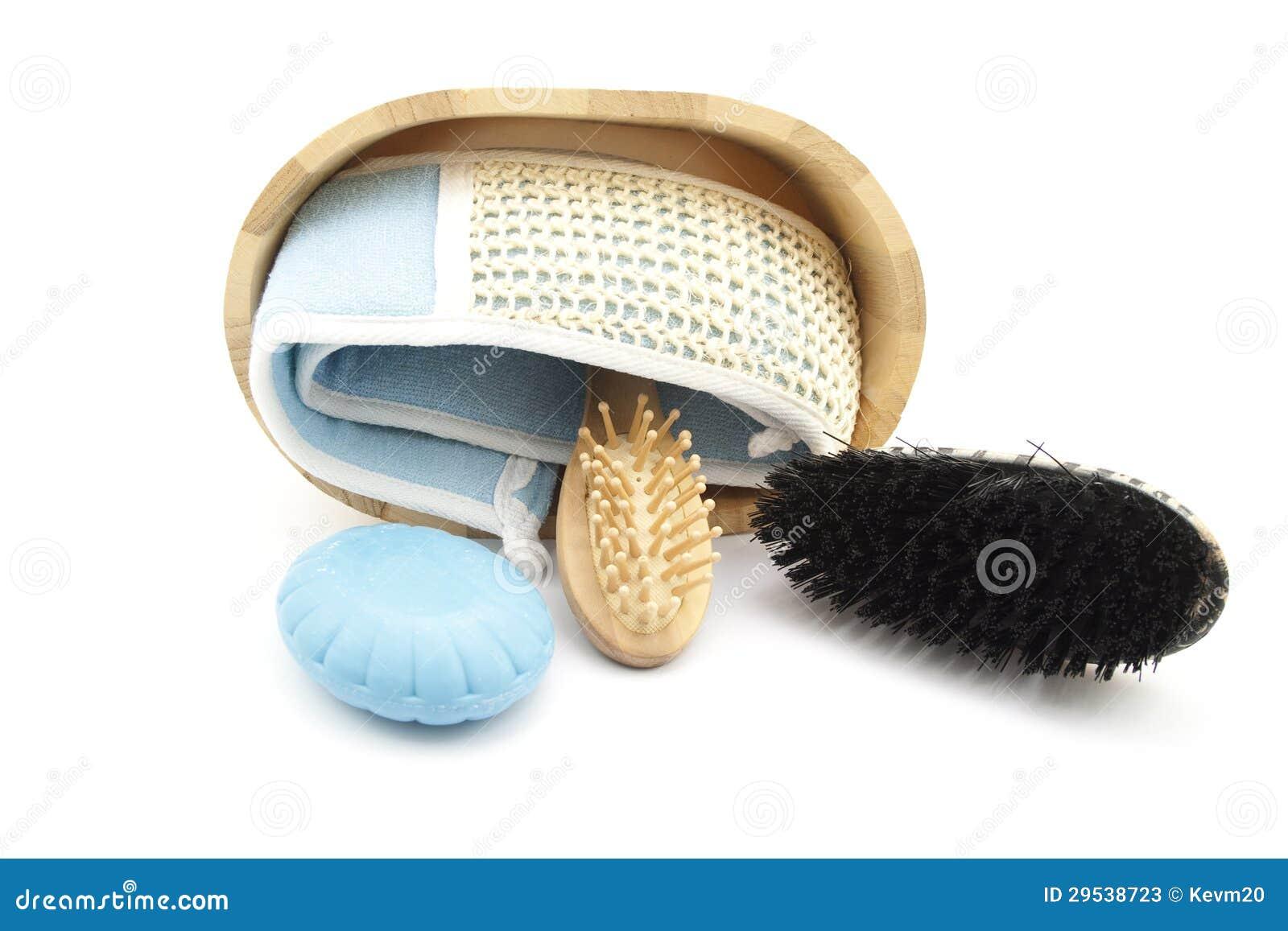 Escova da massagem com sabão