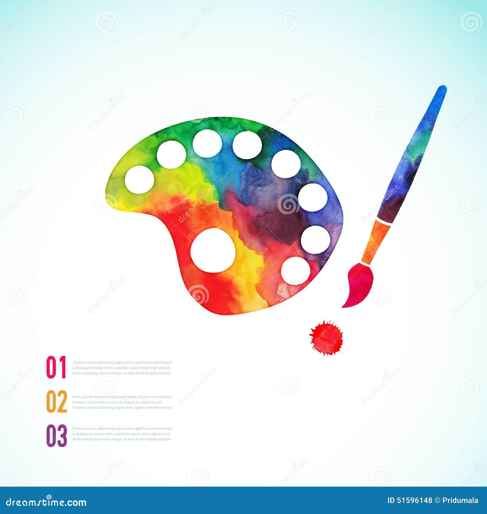 Flat Design Paint Brushes