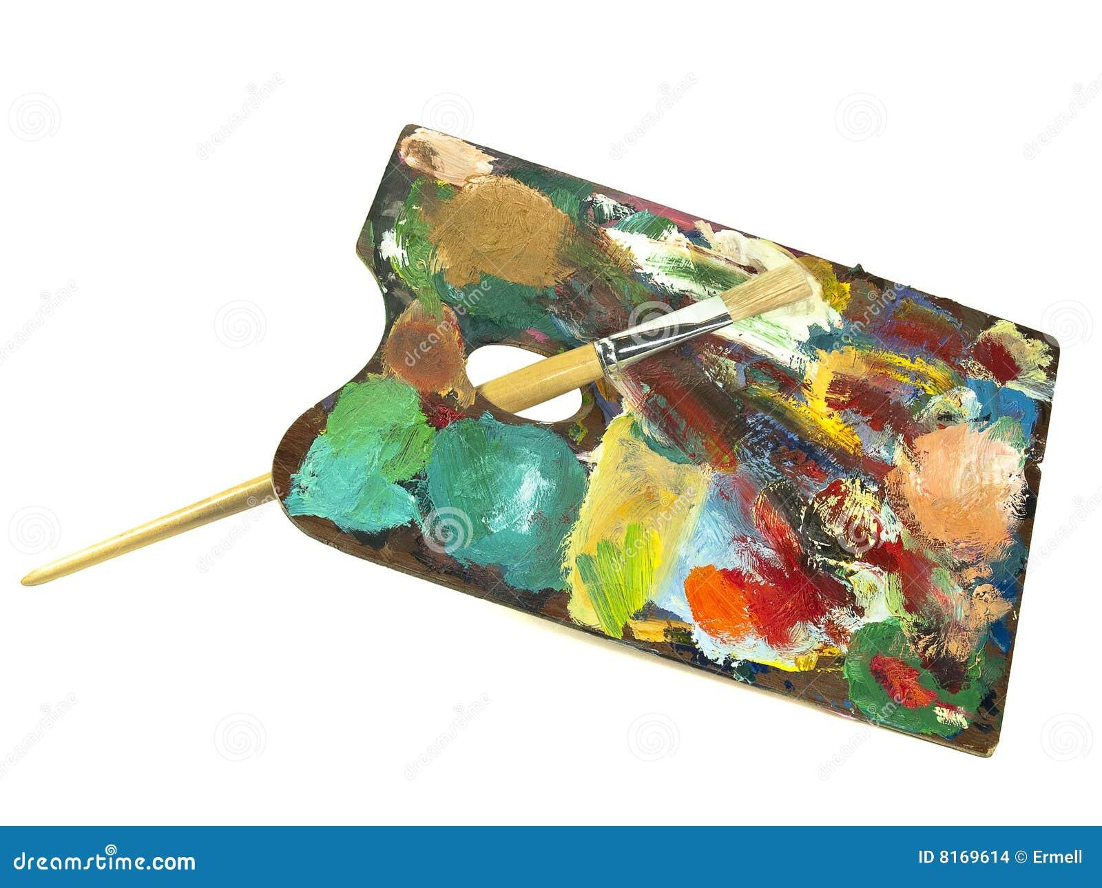 Escova e paleta de pintura imagens de stock imagem 8169614 - Paleta de pinturas ...