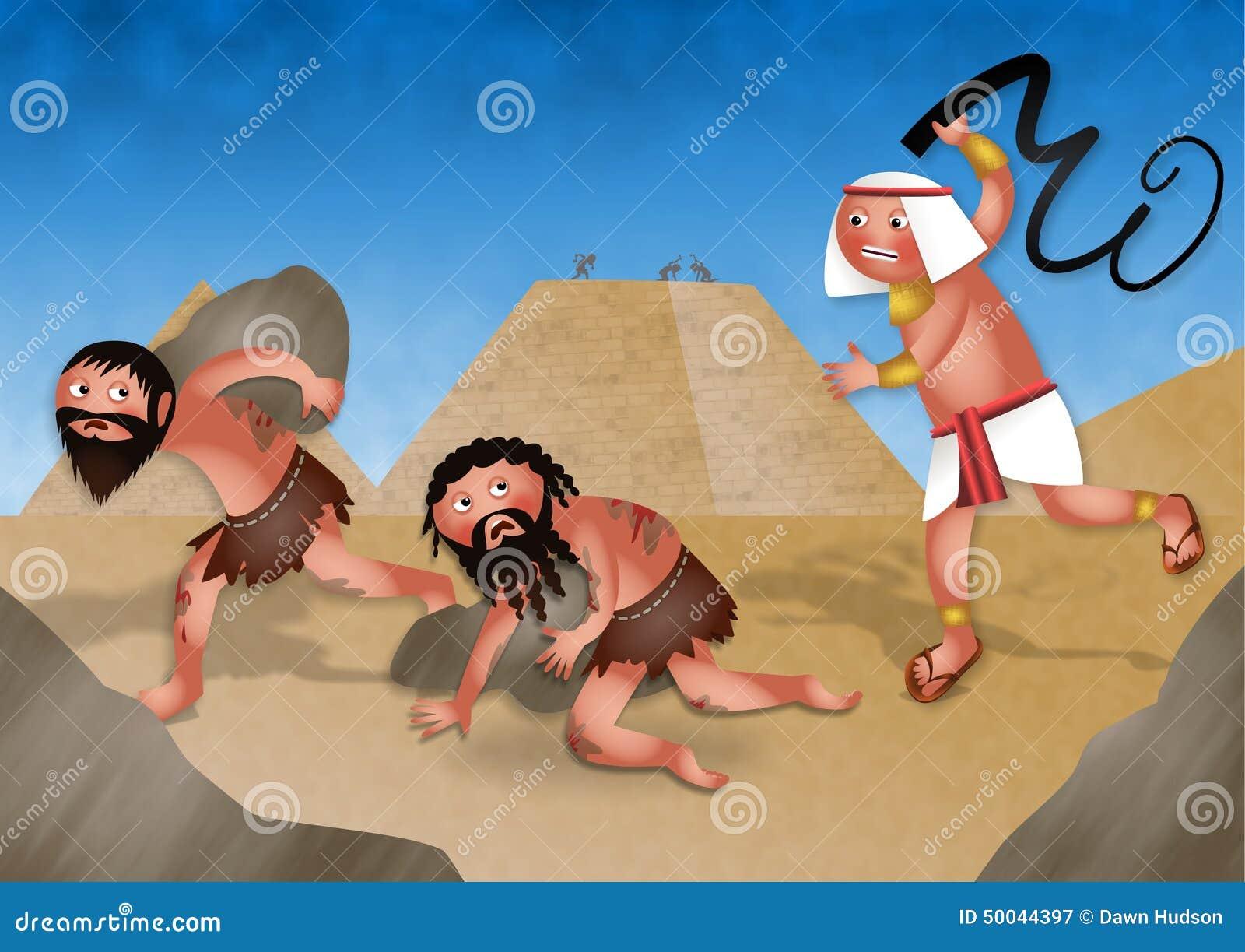 Escravos Em Egito Desenhos Animados Judaicos Da Pascoa Judaica Ilustracao Stock Ilustracao De Egito Judaica 50044397