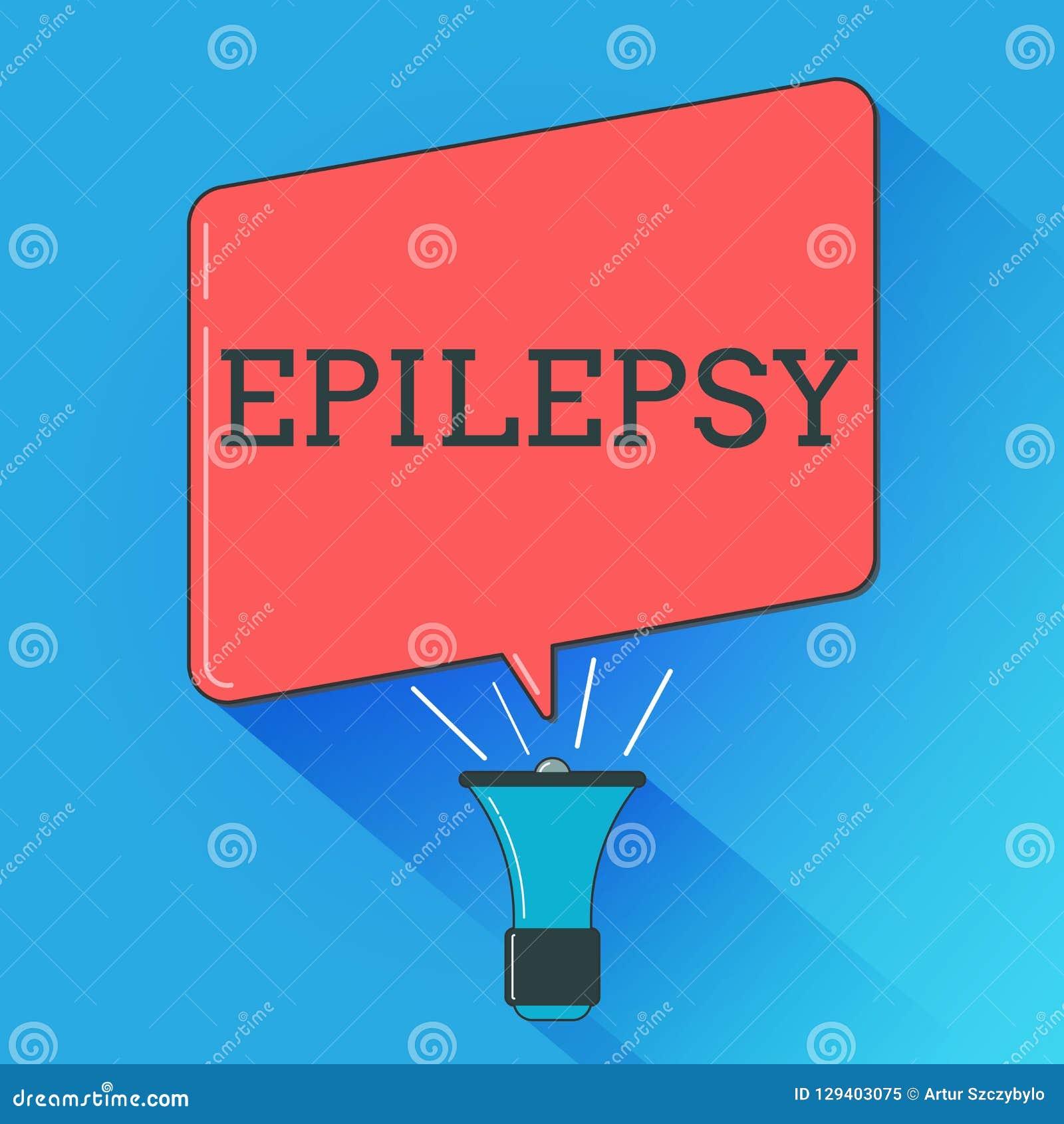Escrevendo a epilepsia da exibição da nota Foto do negócio que apresenta em quarto a maioria de apreensões imprevisíveis comuns d