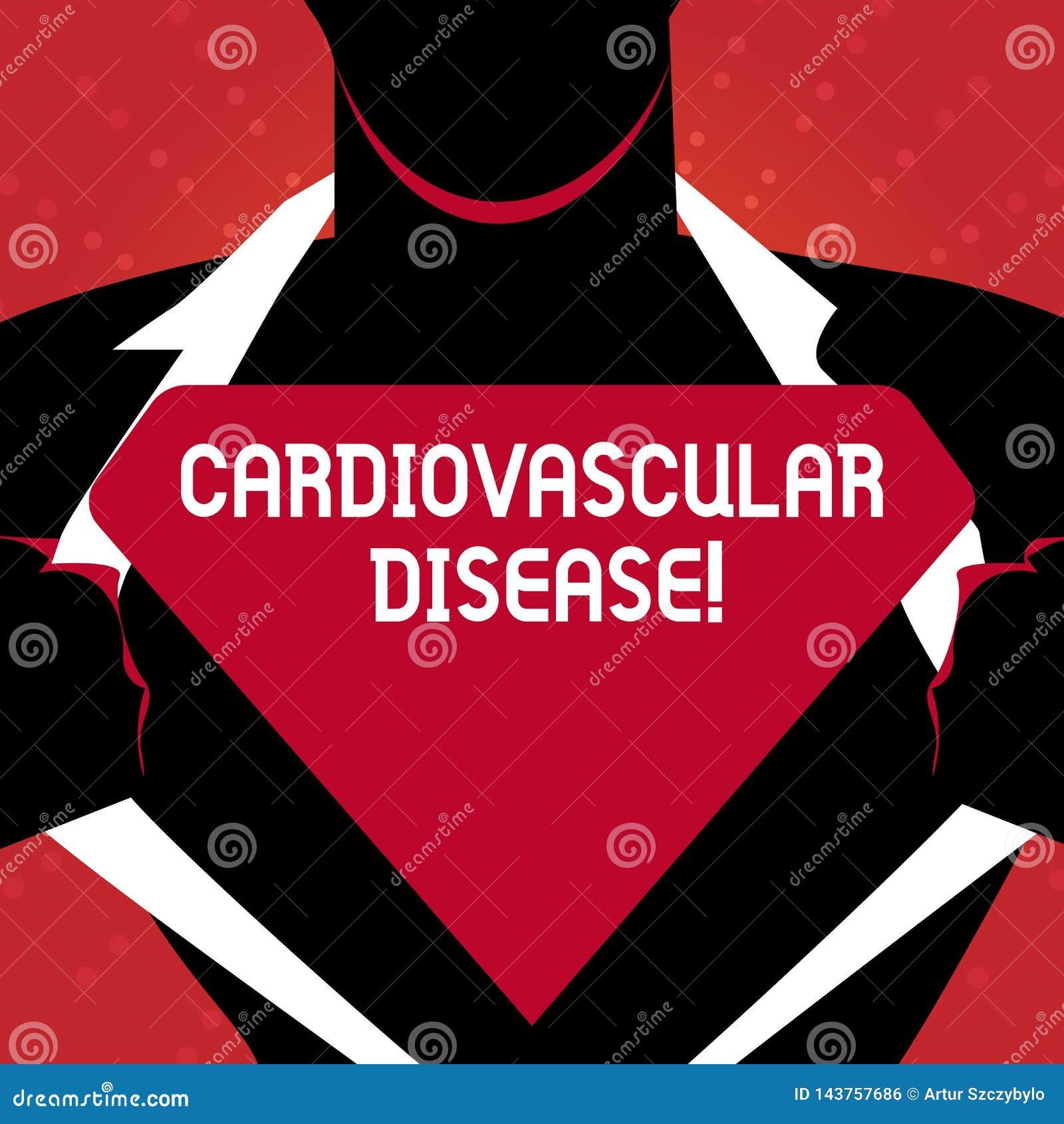 Escrevendo a exibição da nota a doença cardiovascular As condições apresentando da foto do negócio envolvem o sangue reduzido ou