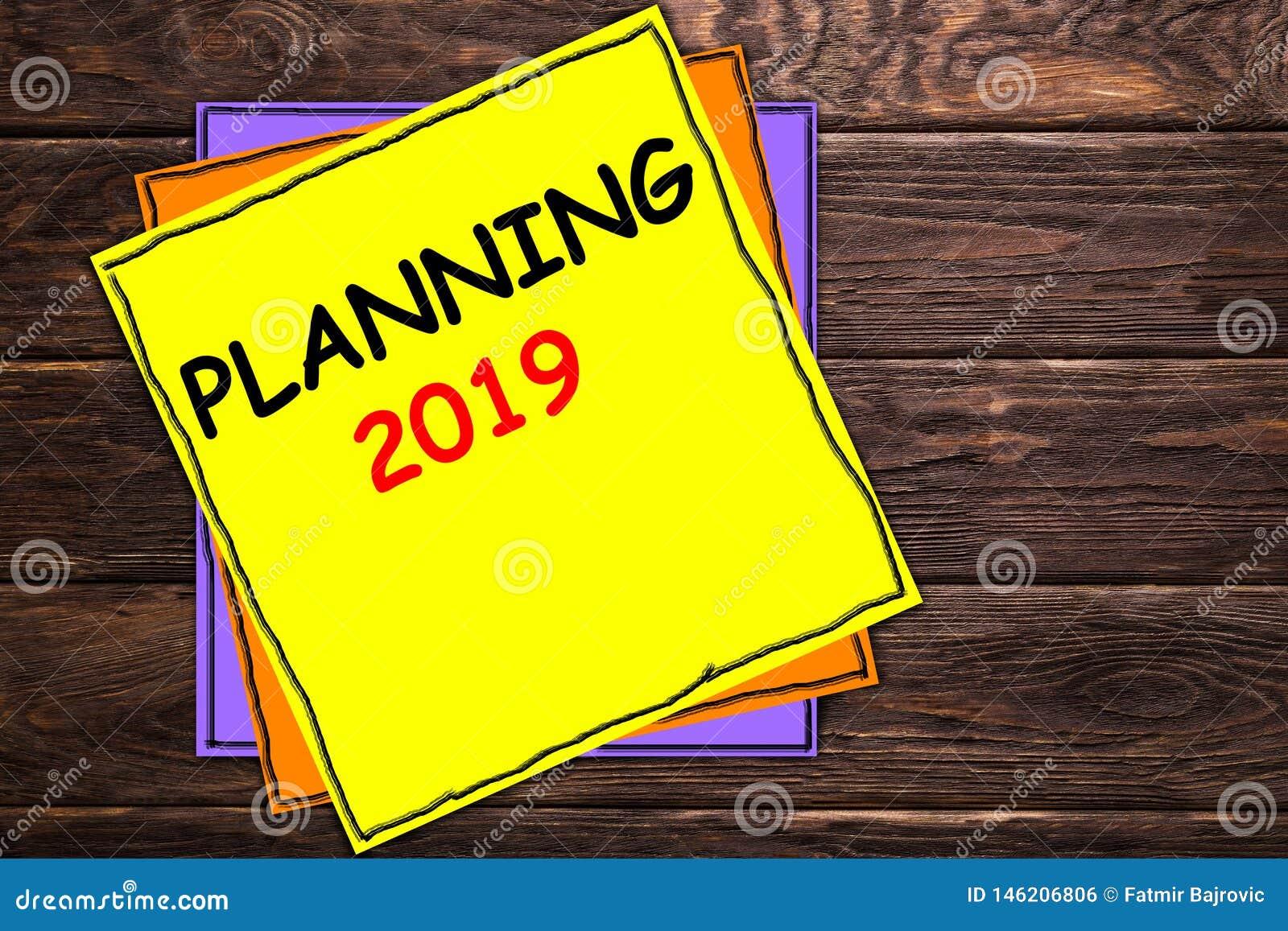 Escrevendo o PLANEAMENTO 2019 da exibição da nota '