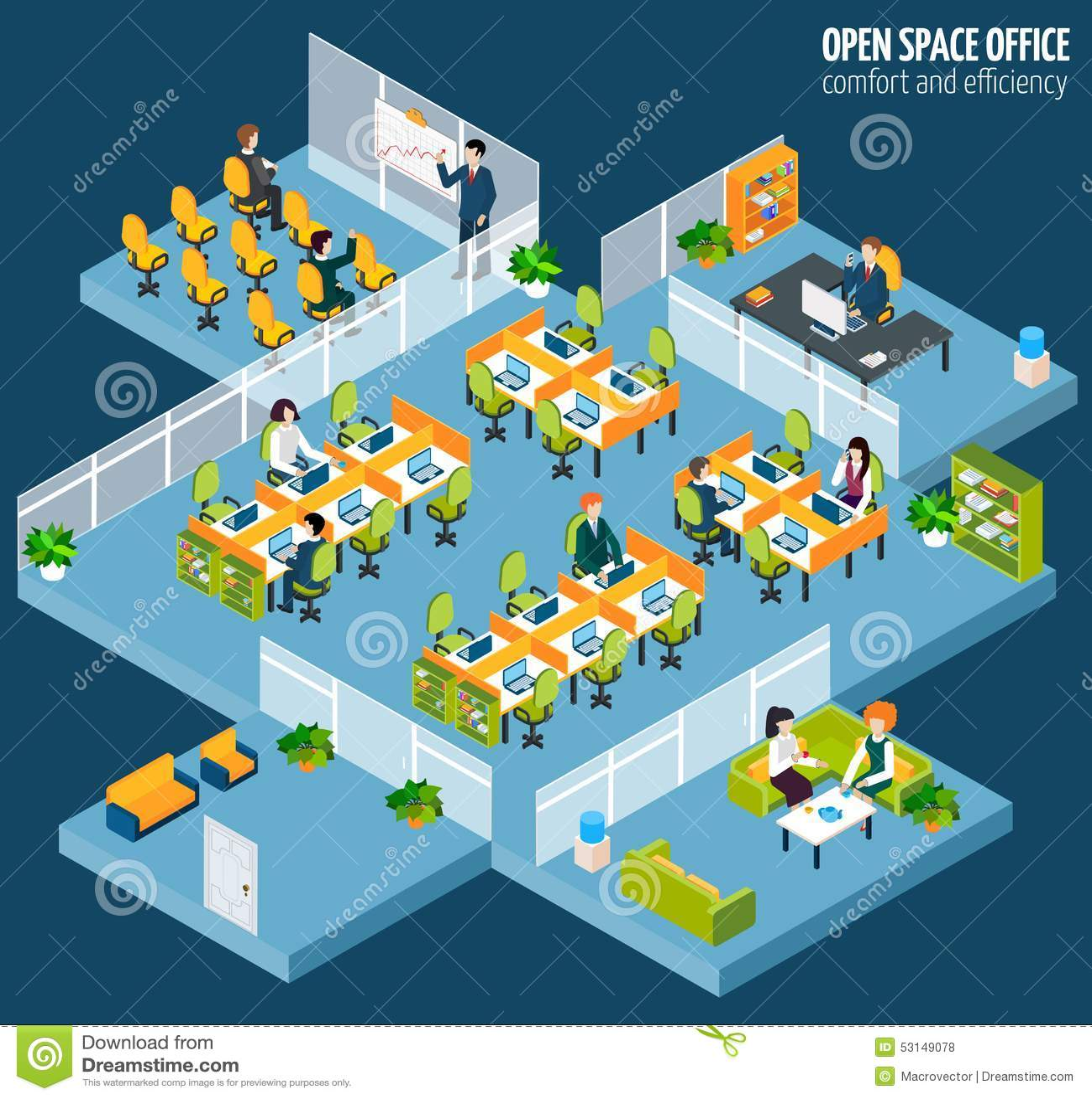 Escritório do espaço aberto