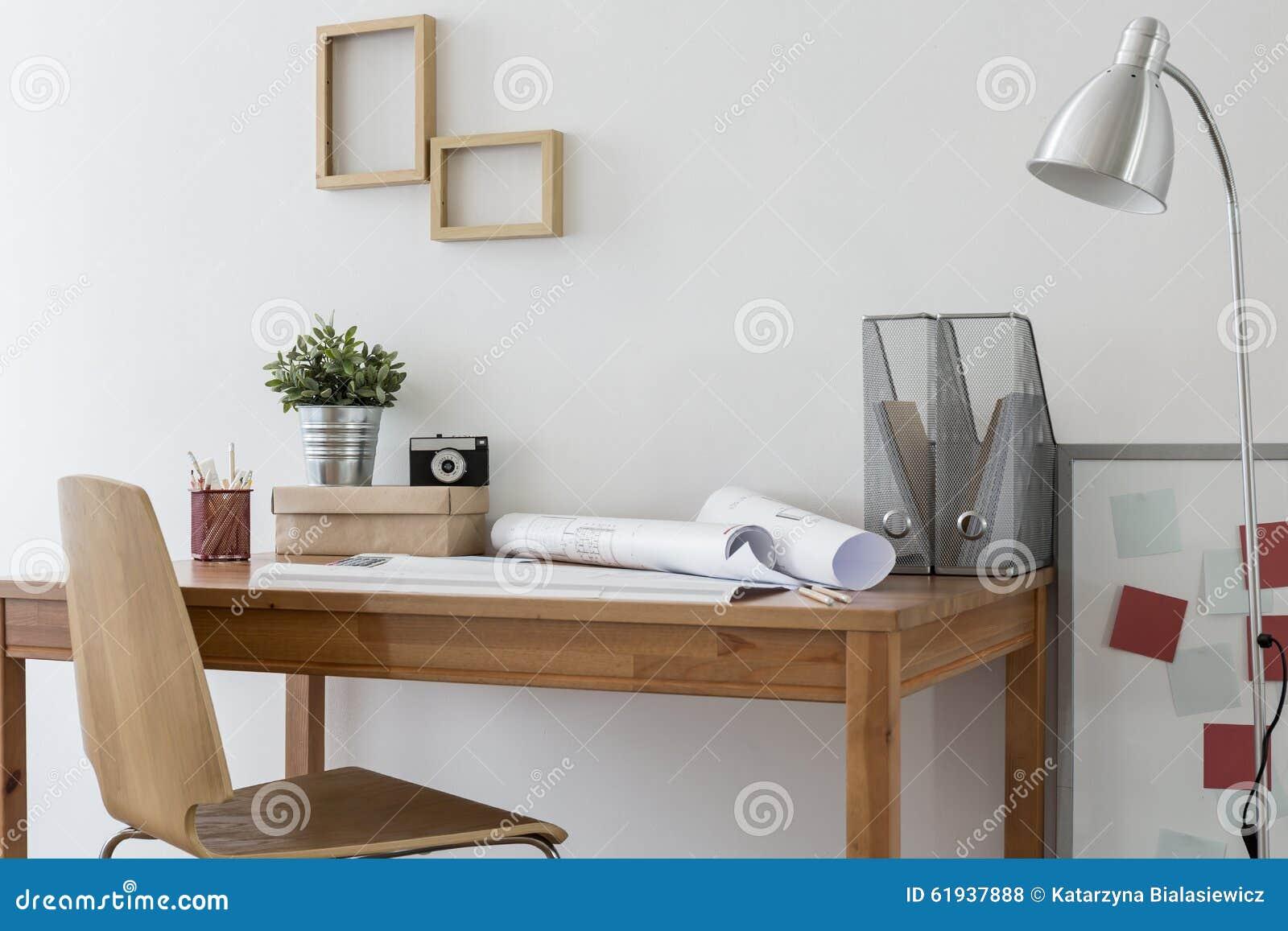 Escritório domiciliário de Minimalistic