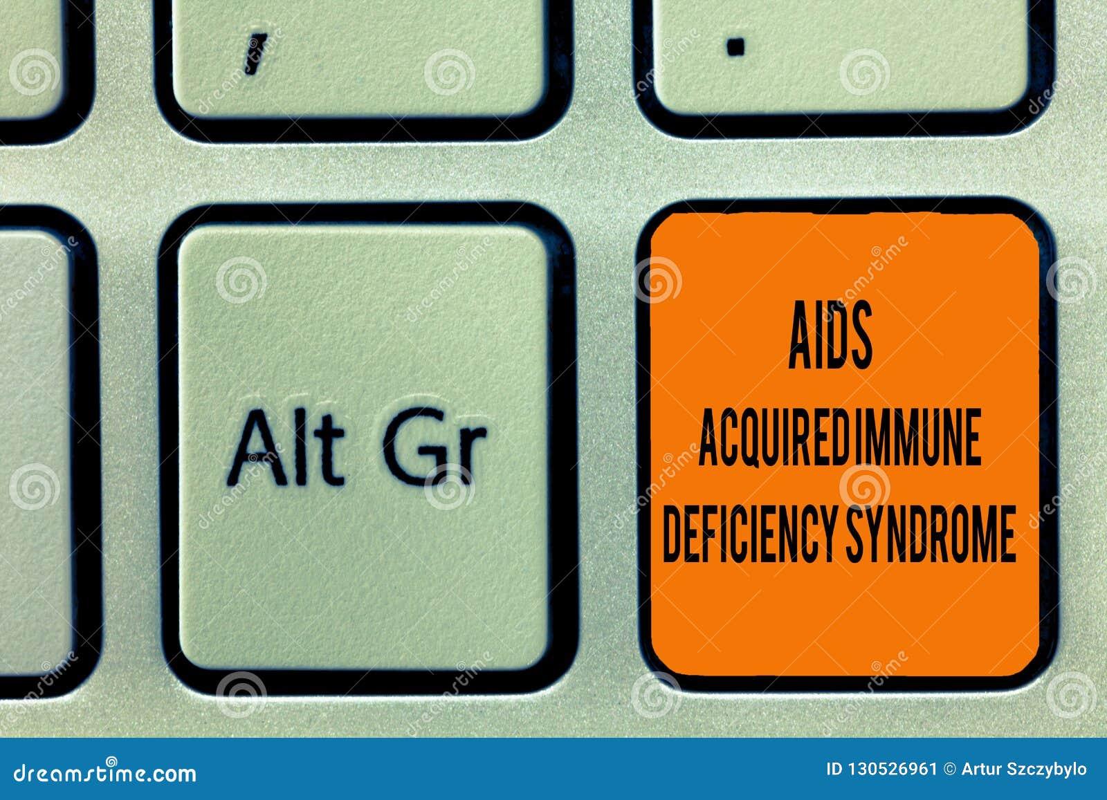 A escrita do texto da escrita ajuda à síndrome imune adquirido da deficiência Fase séria do significado do conceito da doença de