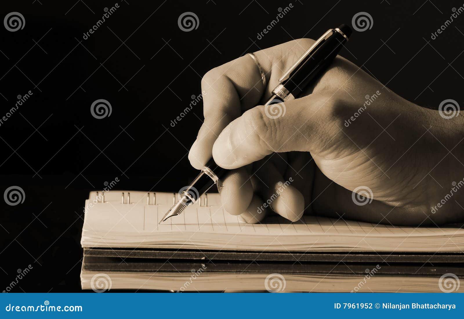 Escrita em um diário