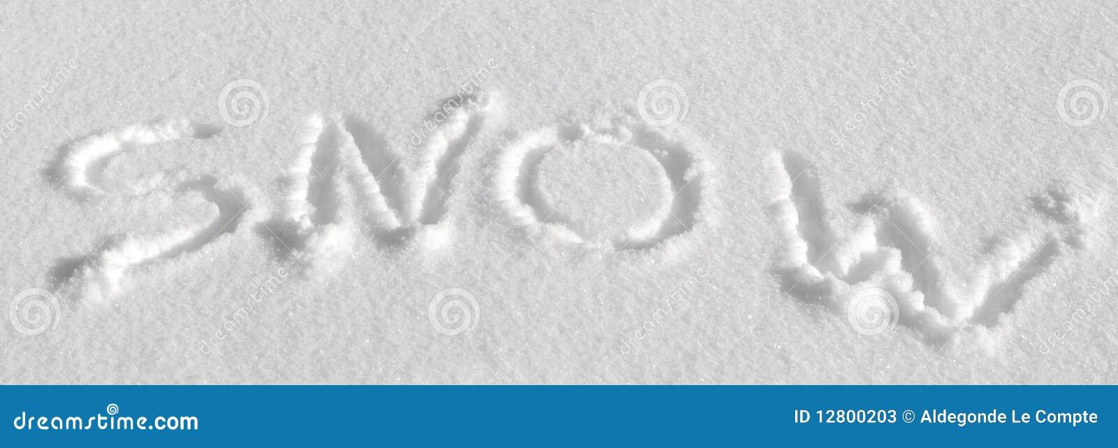 Escrito na neve