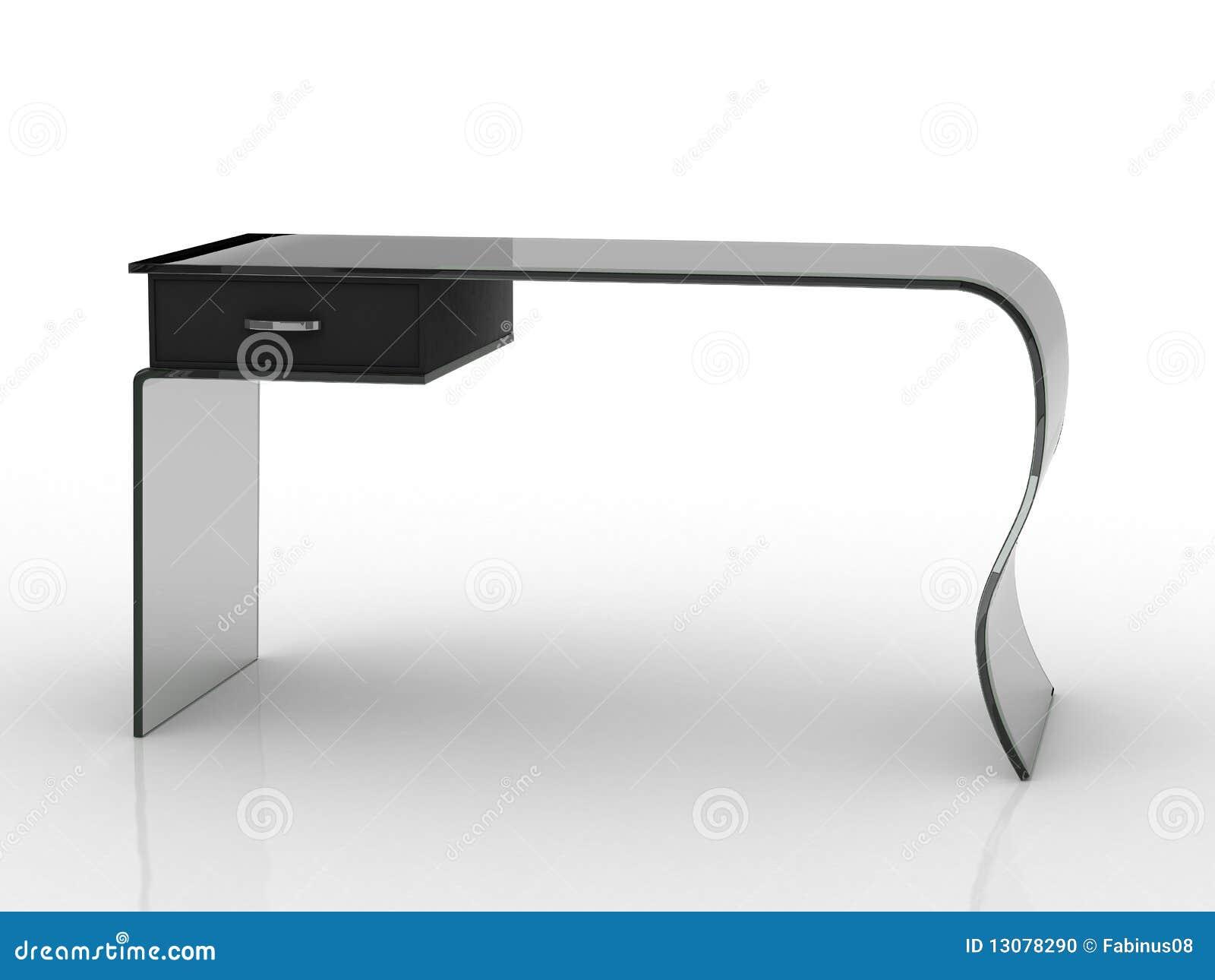 Escritorio de oficina con estilo moderno foto de archivo for Escritorio moderno blanco