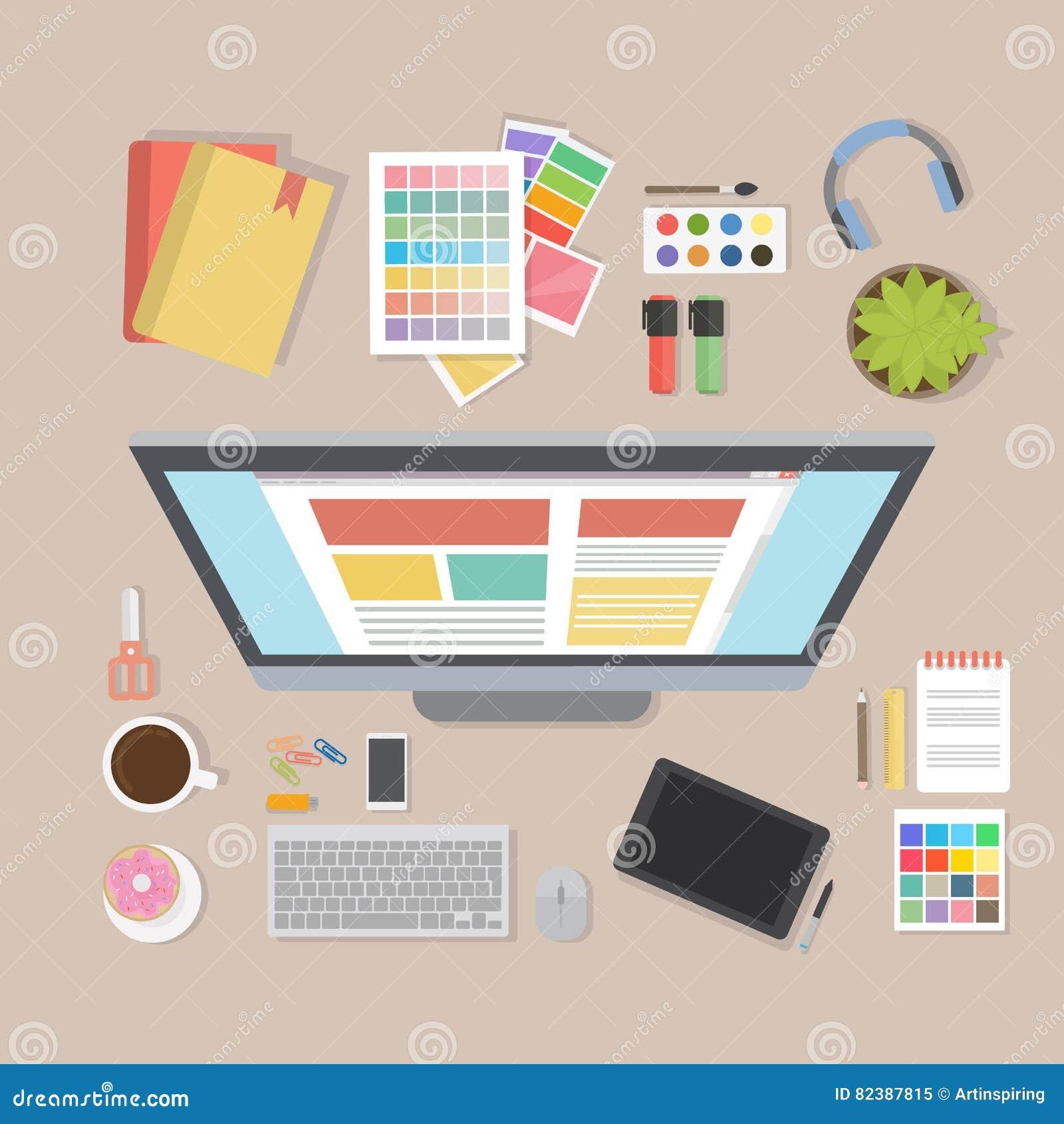 Escritorio del diseñador web