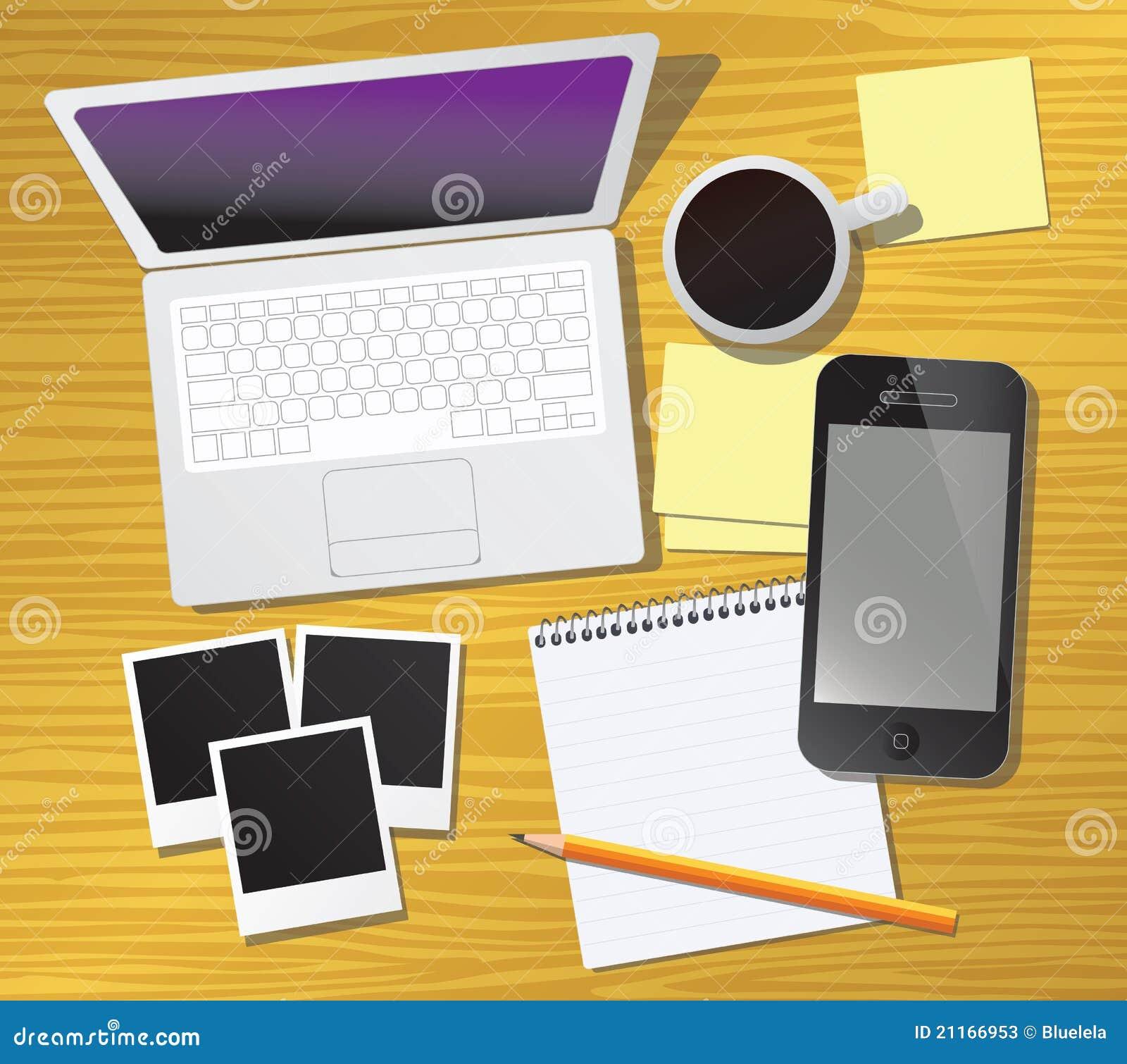 Escritorio del trabajo ilustraci n del vector ilustraci n - Escritorio mesa de trabajo ...