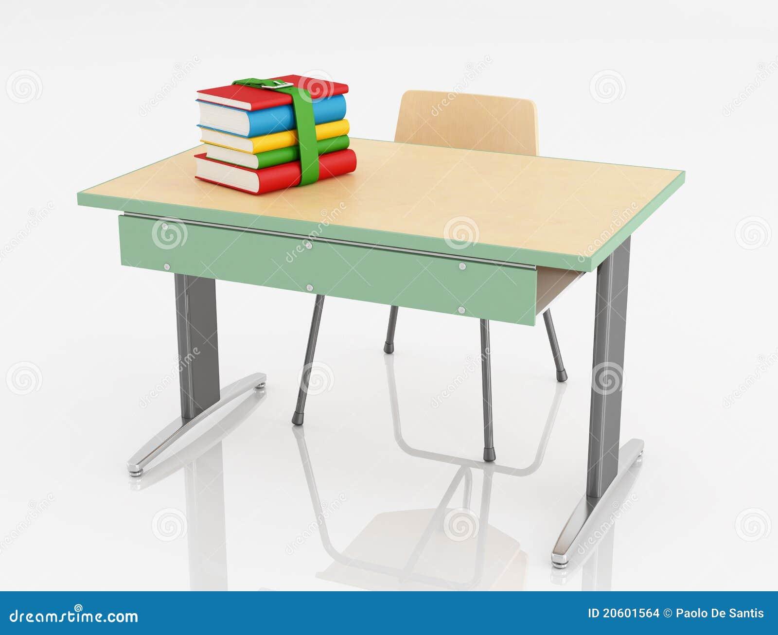 Escritorio y silla de la escuela imagenes de archivo for Imagenes escritorio
