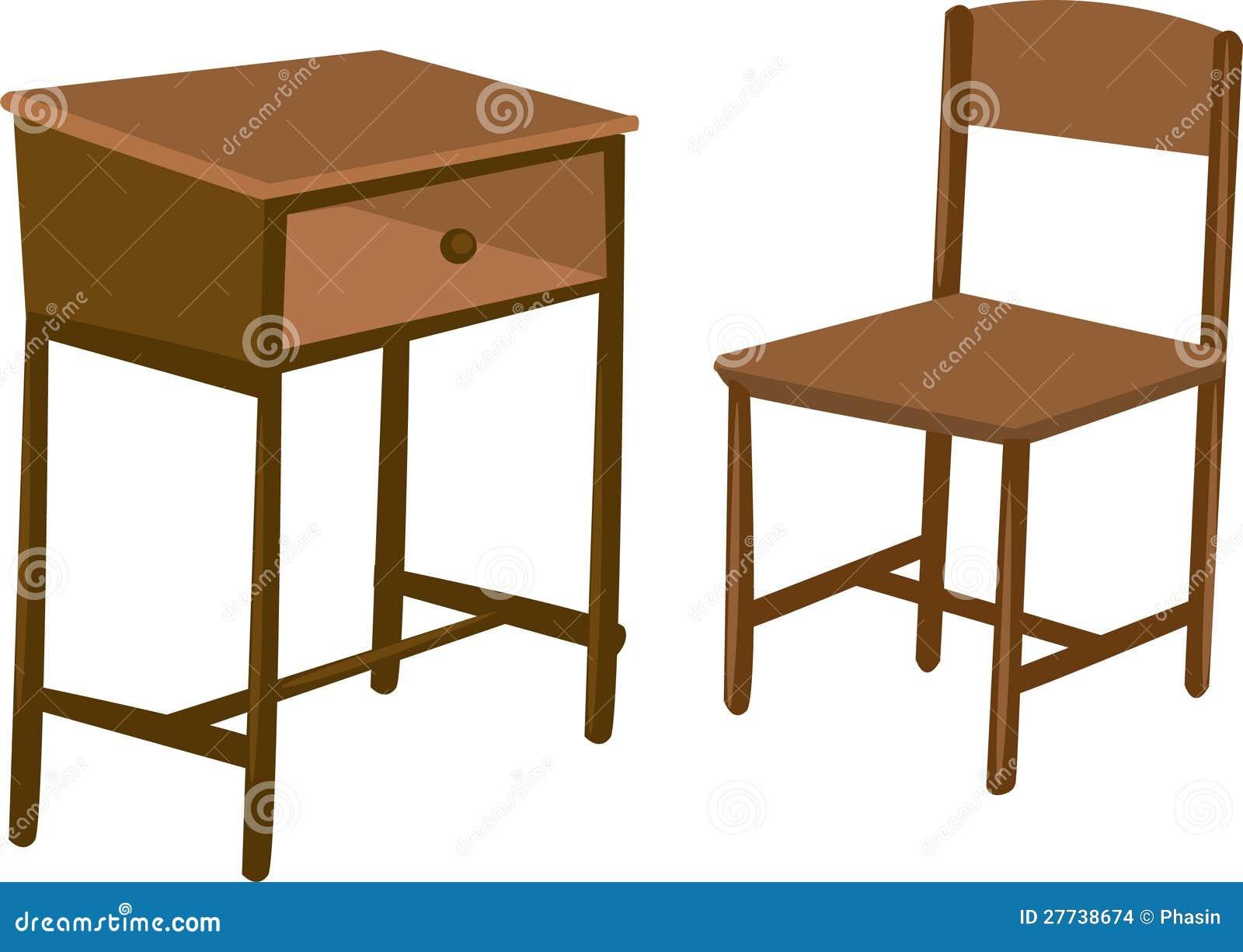 escritorio y silla de madera foto de archivo imagen