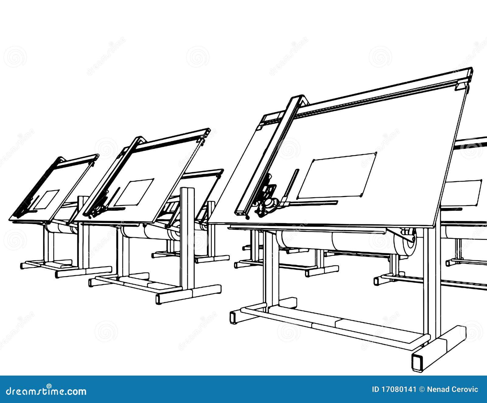 Escritorios de oficina para el vector 05 del gráfico