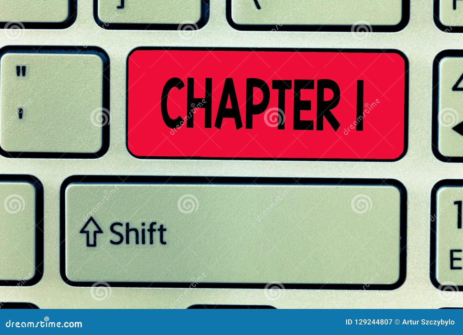 Escritura conceptual de la mano que muestra el capítulo 1 Oportunidad de la narración del proyecto del libro del od del comienzo