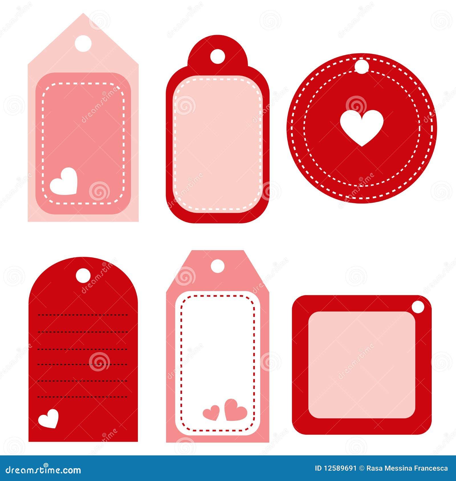 Escritura de la etiqueta de la tarjeta del día de San Valentín - vector