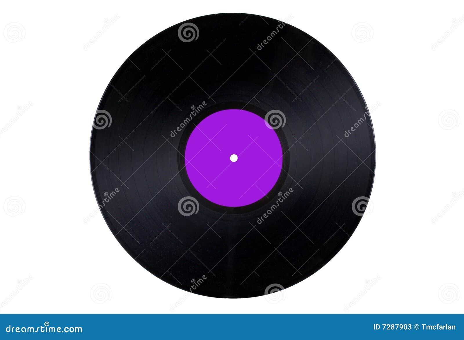 Escritura de la etiqueta púrpura del expediente de vinilo