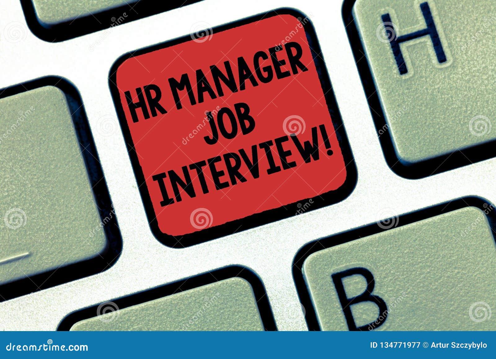 Escritura de la nota que muestra al encargado Job Interview de la hora Recursos de exhibición del huanalysis del reclutamiento de