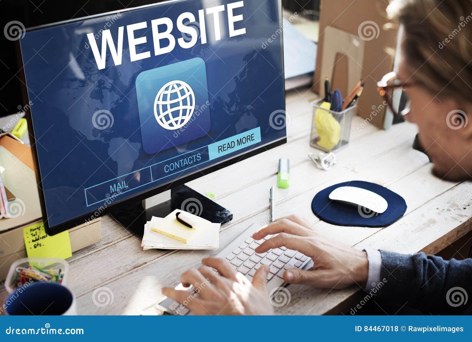 Escroquerie graphique de WWW de connexion de site Web d Internet global de communication