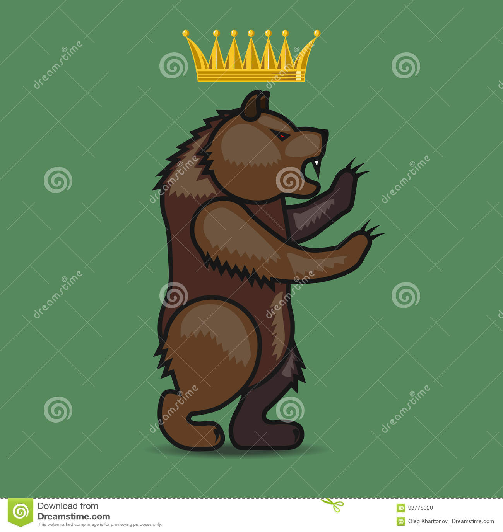 Escudo de armas con un oso