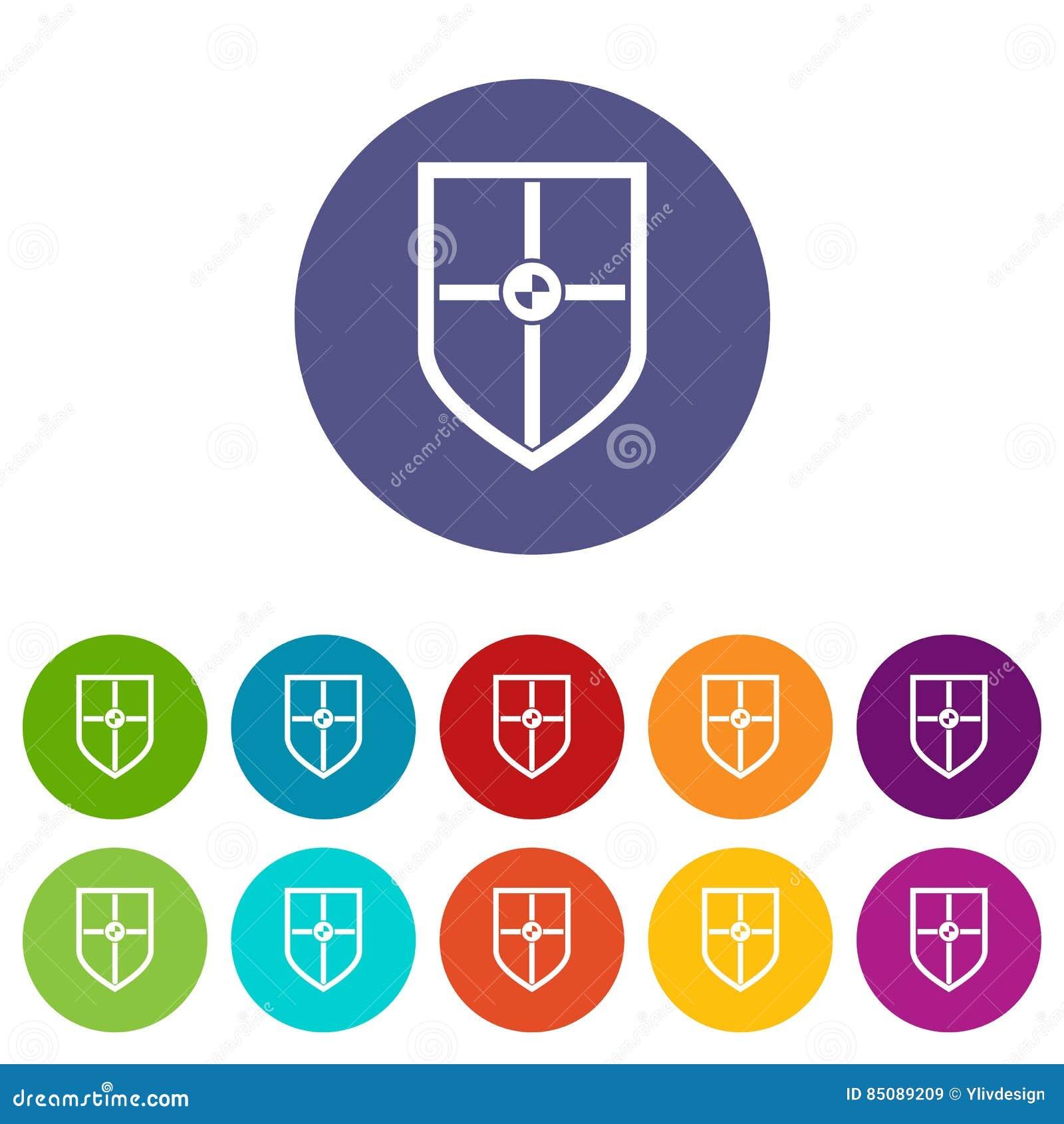 Escudo para los iconos determinados de la lucha