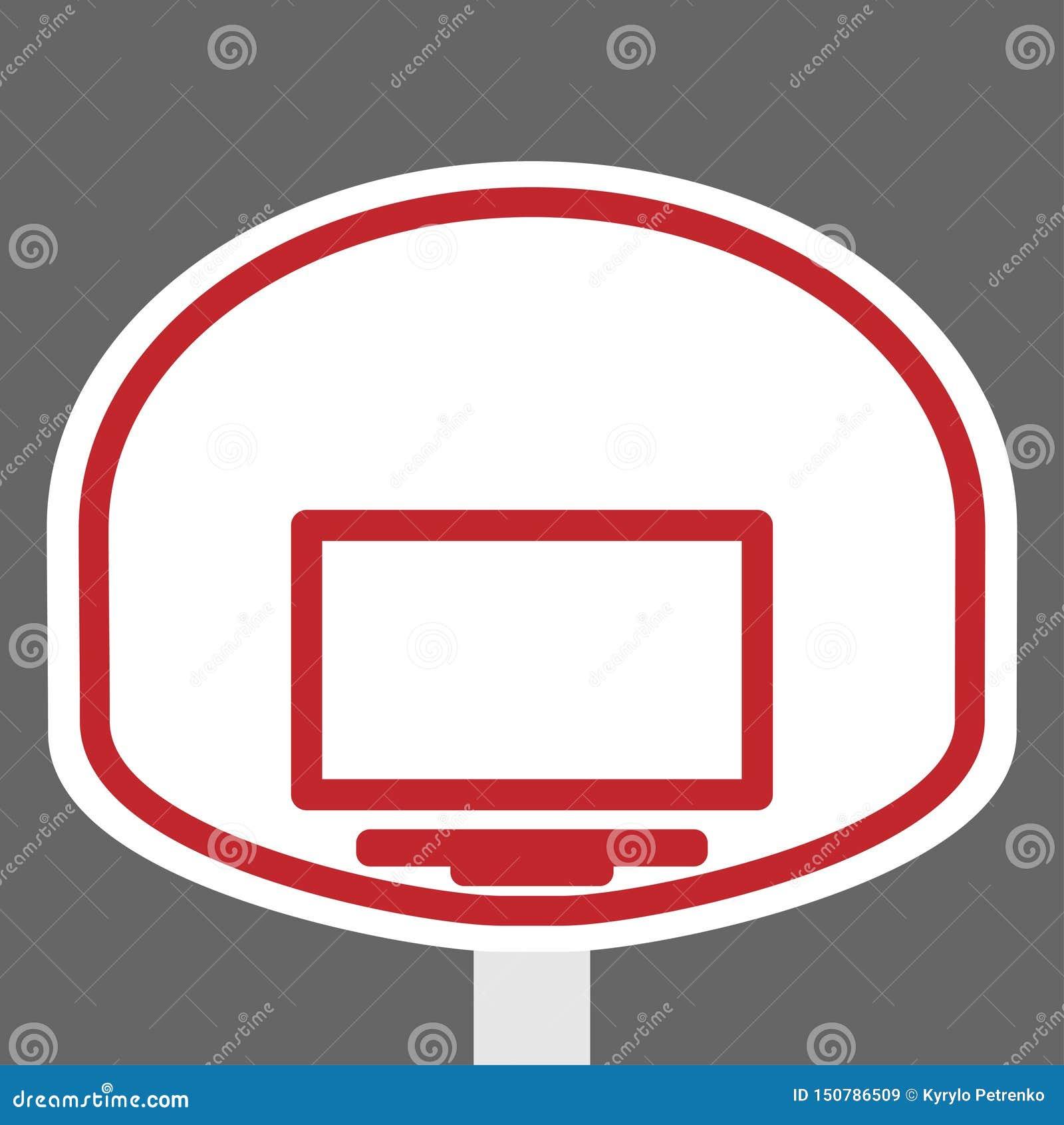Escudo y anillo de la cesta para el baloncesto