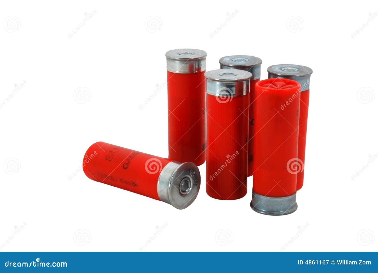 Escudos da espingarda do calibre do vermelho 12
