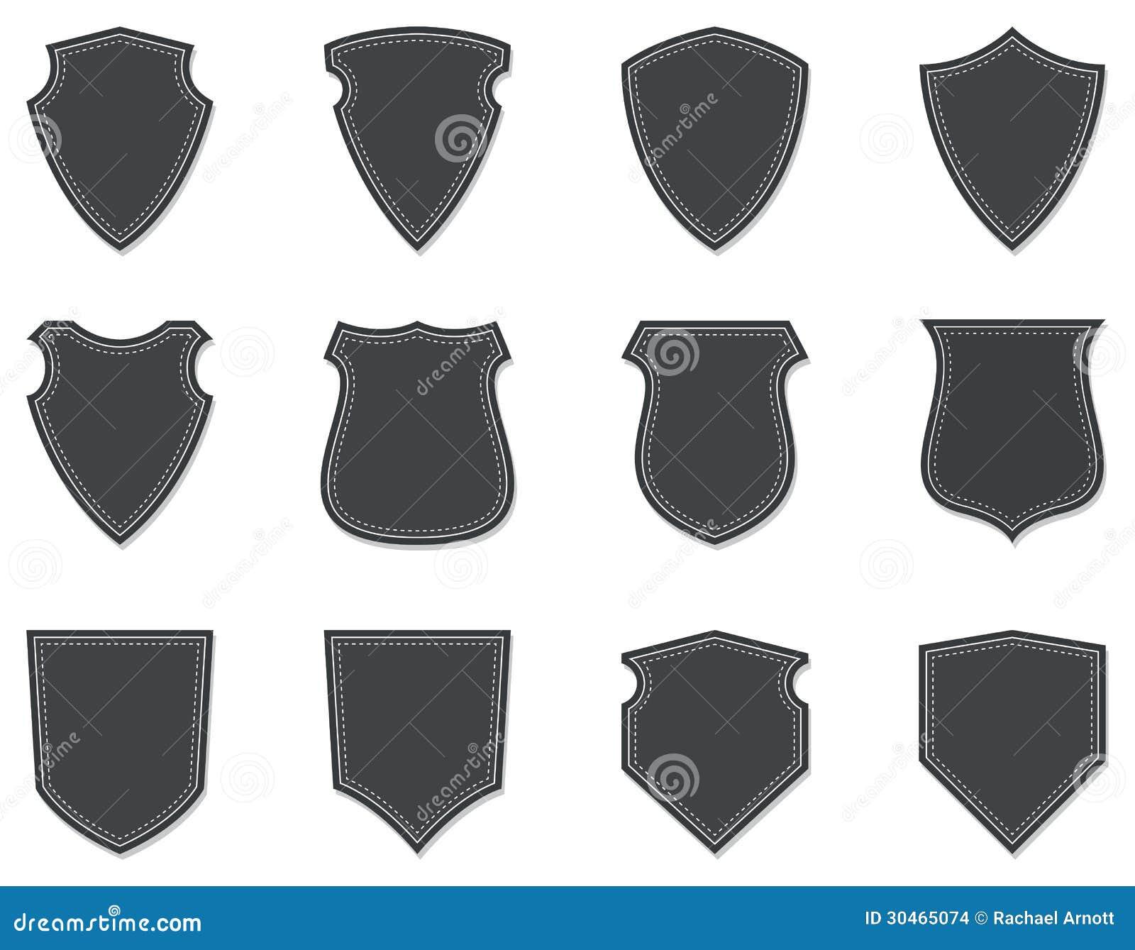 Escudos Y Insignias En Blanco Ilustraci U00f3n Del Vector