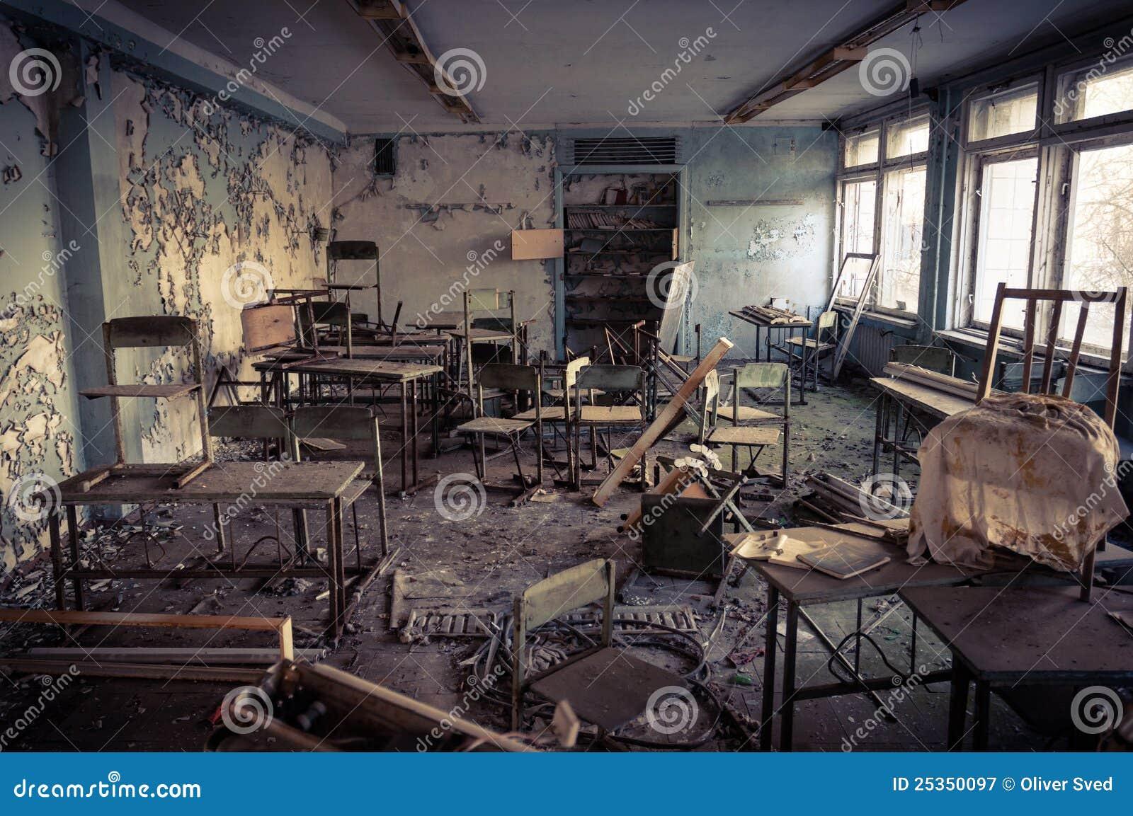 Escuela abandonada en Chernobyl