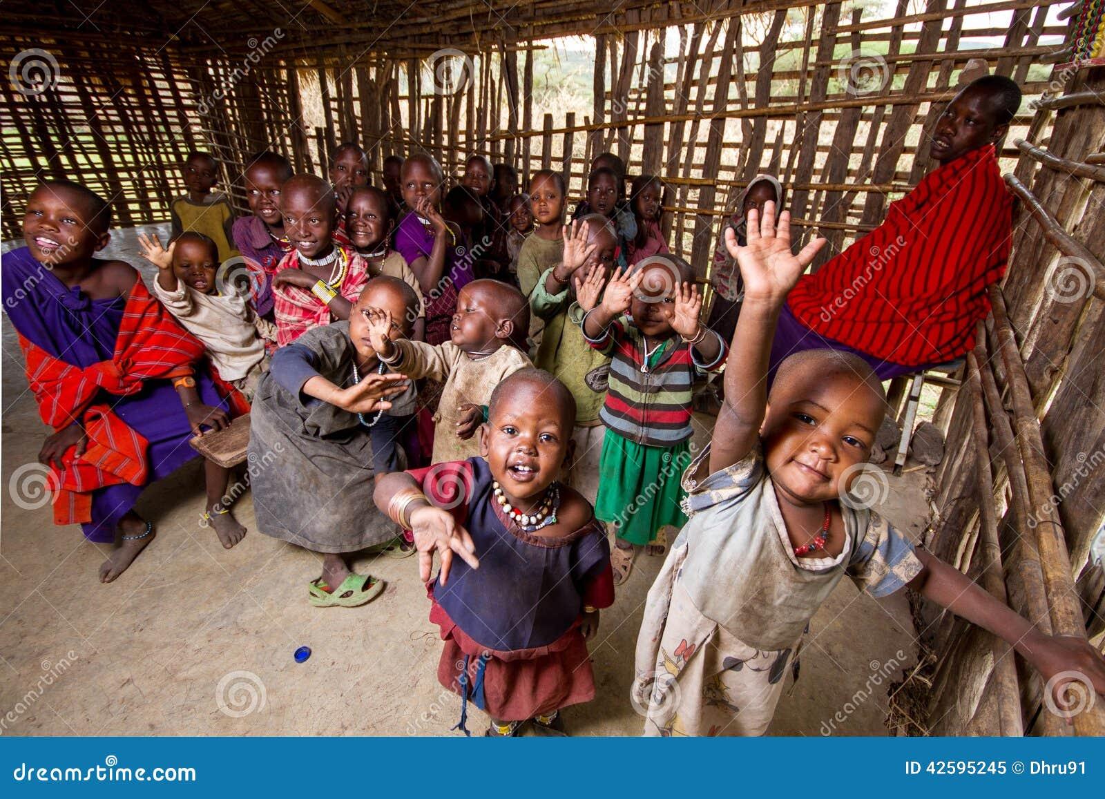 Escuela del pueblo en África
