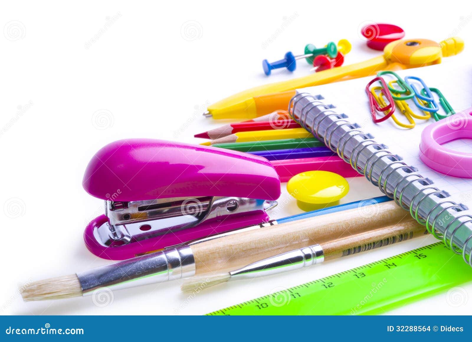 Escuela y materiales de oficina foto de archivo imagen for Material de oficina