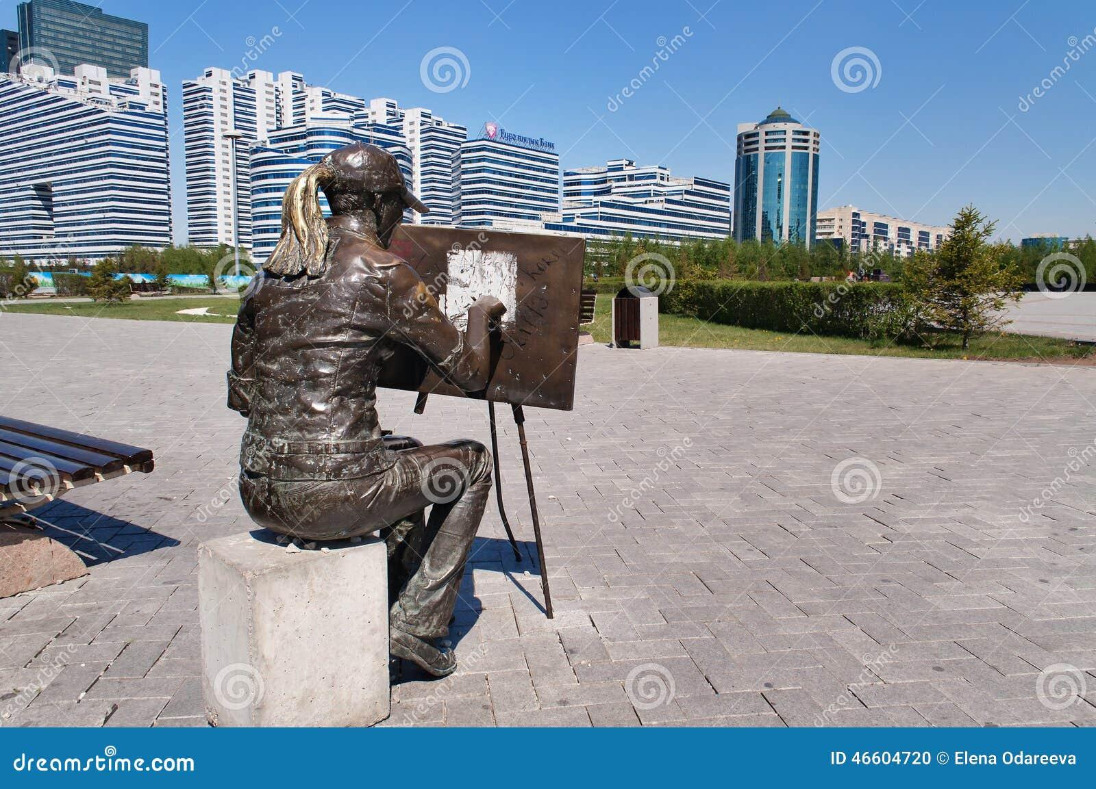 Esculpa al artista en Astaná