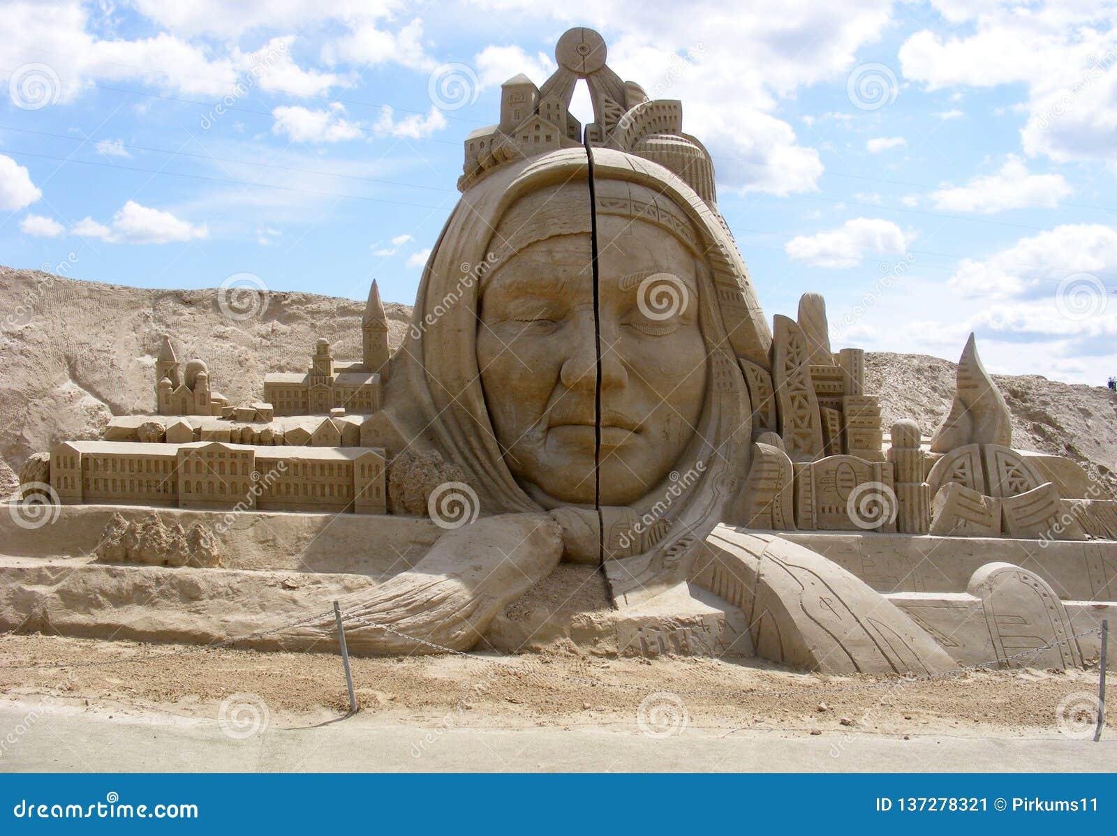 Escultura da areia