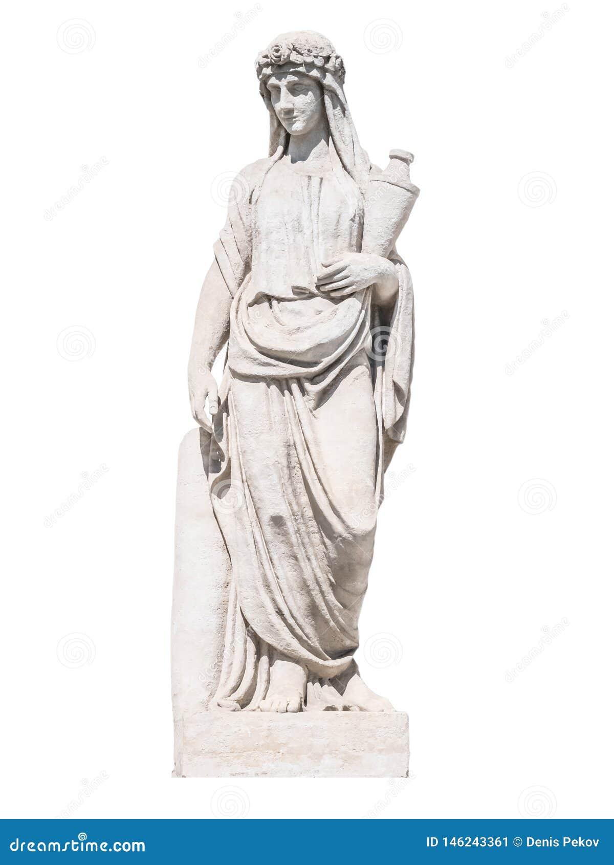 Escultura da sacerdotisa grega do deus