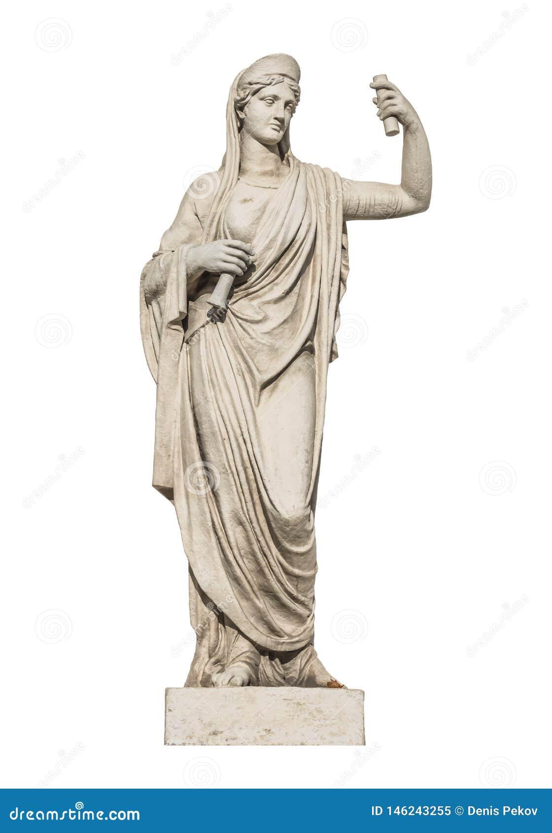 Escultura de dios Athena del griego clásico