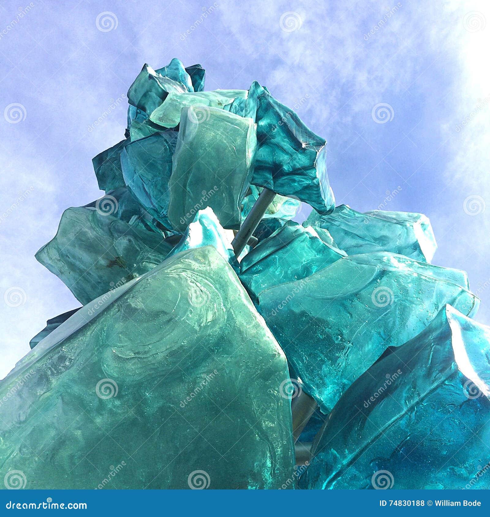 Escultura de hielo de cristal
