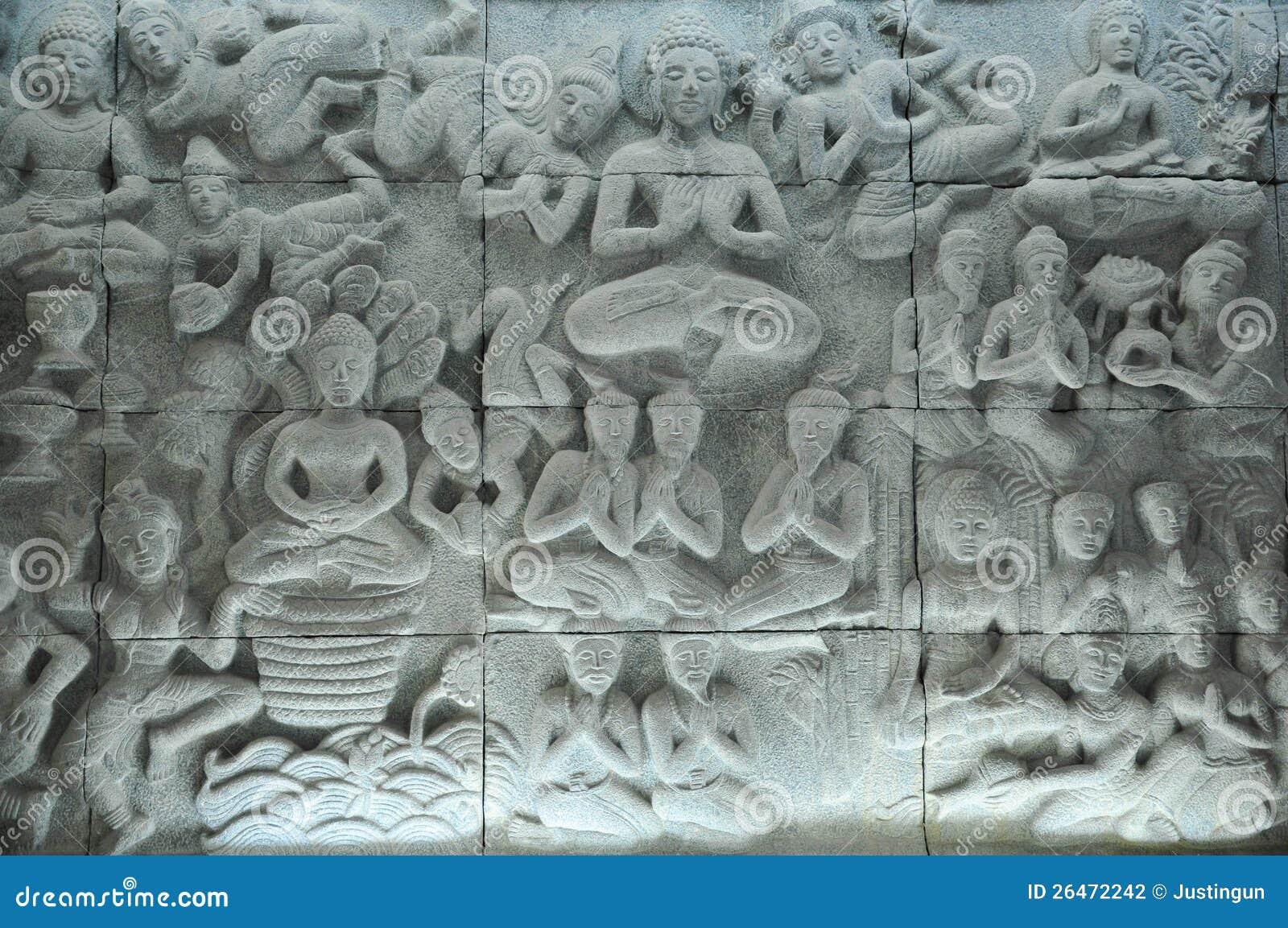 Escultura de la historia de Buddha