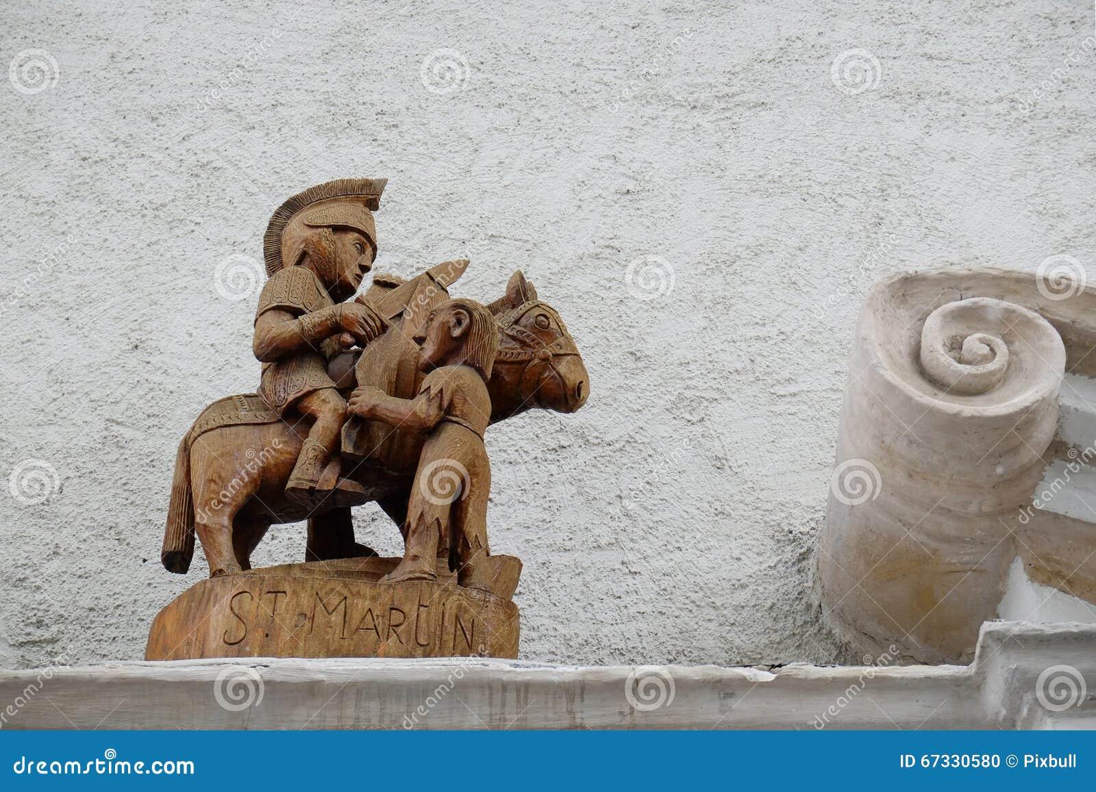 Escultura de madeira medieval St Martin