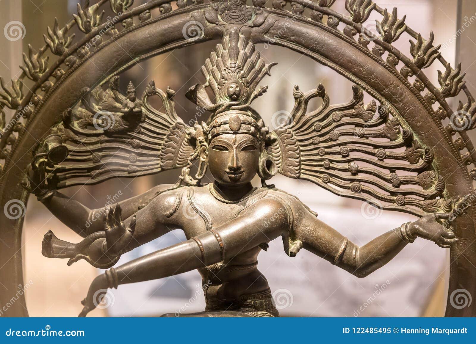 Escultura de Nataraja, senhor da dança, Nova Deli, Índia