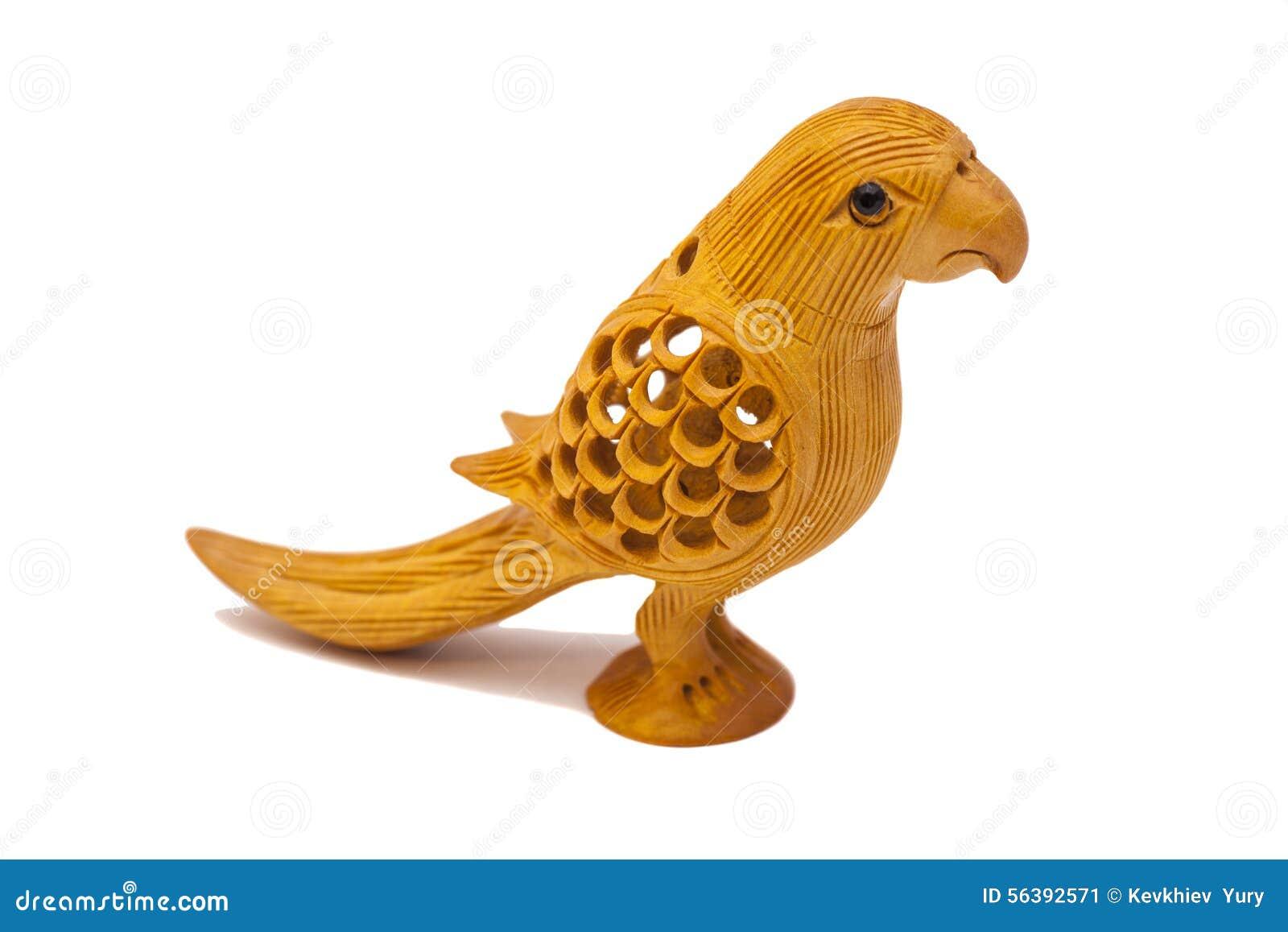 Escultura Decorativa De Madera Del Pajaro Imagen De Archivo Imagen - Escultura-decorativa