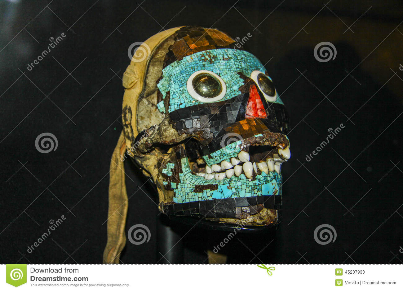 Escultura del arte del maya de la cabeza humana