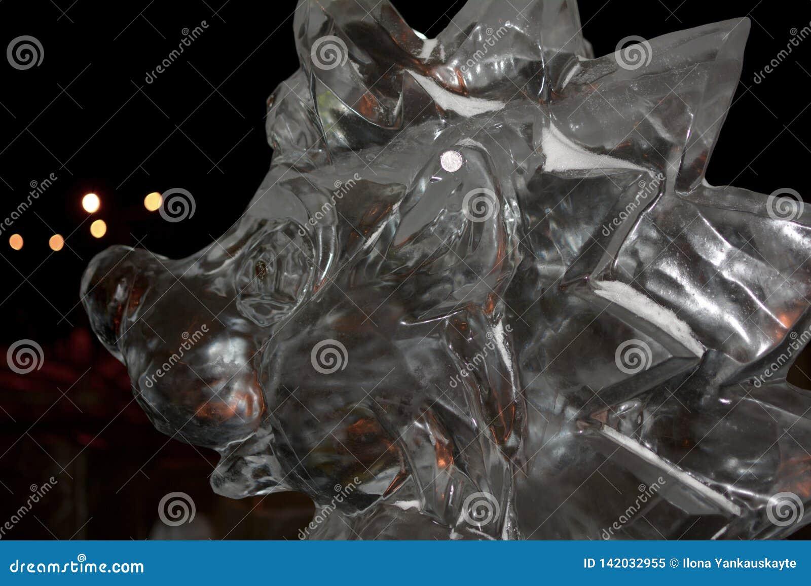 Escultura del erizo del hielo