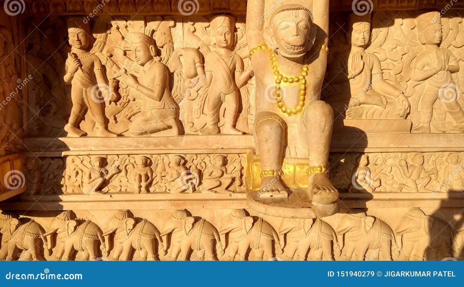 Escultura del templo de Hanuman