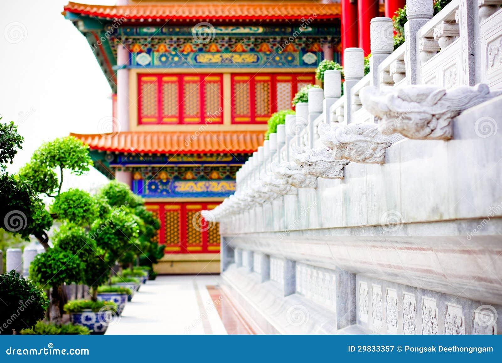 Estátua do dragão do estilo chinês