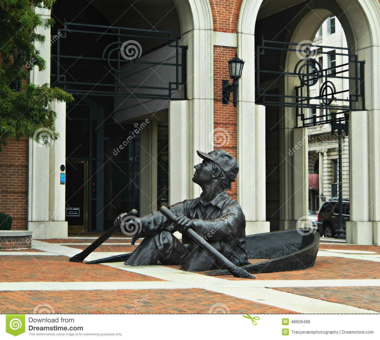 A escultura Knoxville do remador, Tennessee
